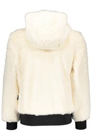 SUPER REBEL GIRLS HOODED FUR CARDIGAN
