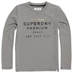 SUPERDRY DUNNE STRIPE LS GRAPHIC TOP