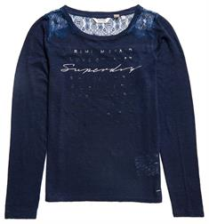 SUPERDRY LACE BACK GRAPHIC TOP