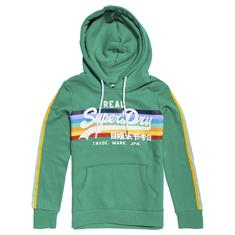 SUPERDRY V LOGO RETRO RAINBOW ENTRY HOOD