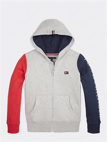 TOMMY COLORBLOCK HOODED ZIP