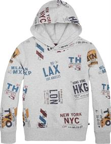 TOMMY HILFIGER AOP HOODED SWEATSHIRT