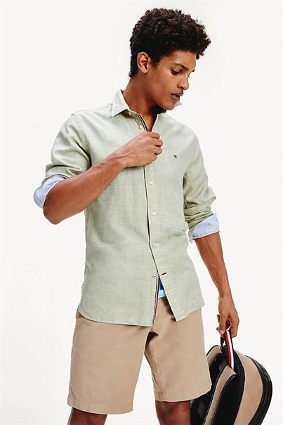 TOMMY HILFIGER COTTON LINEN TWILL SHIRT