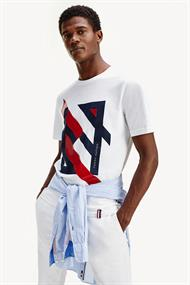 TOMMY HILFIGER DECONSTRUCTED STRIPE RELAX TEE