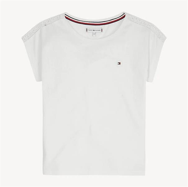 TOMMY HILFIGER LACE TOMMY TAPE TEE S/S