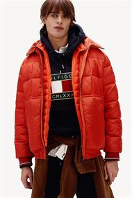 TOMMY HILFIGER ROPE DYE HOODED BOMBER