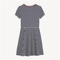 TOMMY HILFIGER STRIPE KNIT SKATER DRESS