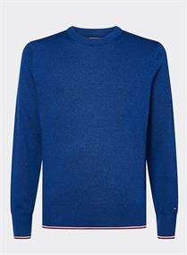 TOMMY HILFIGER TIPPED MOULINE CREW NECK
