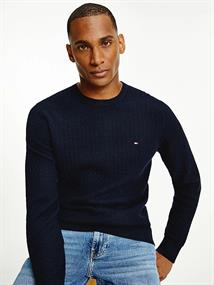 TOMMY HILFIGER WEAVE STRUCTURED SWEATER