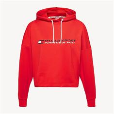 TOMMY HILLFIGER HOODY CROOPPED VERTICAAL LOGO