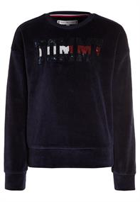 TOMMY SEQUIN VELOUR SWEATSHIRT