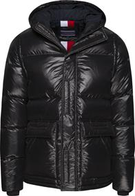 TOMMY SHINY HOODED DOWN BOMBER