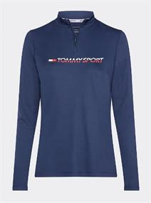 TOMMY SPORT 1/4 ZIP BASE LAYER TEE