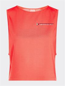 TOMMY SPORT CROPPED TANK TOP LOGO