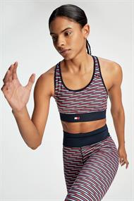 TOMMY SPORT MID SUPPORT FLAG PRNT BRA