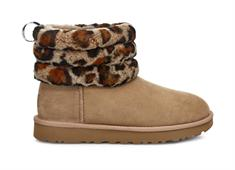 UGG W FLUFF MINI QUILTED LEOPARD