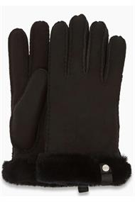 UGG WOMEN'S SHORTY GLOVE W/LEATHER TRIM