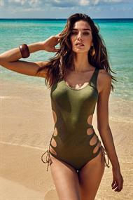 VACANZE ETHNIC LUREX CUT OUT SWIMSUIT