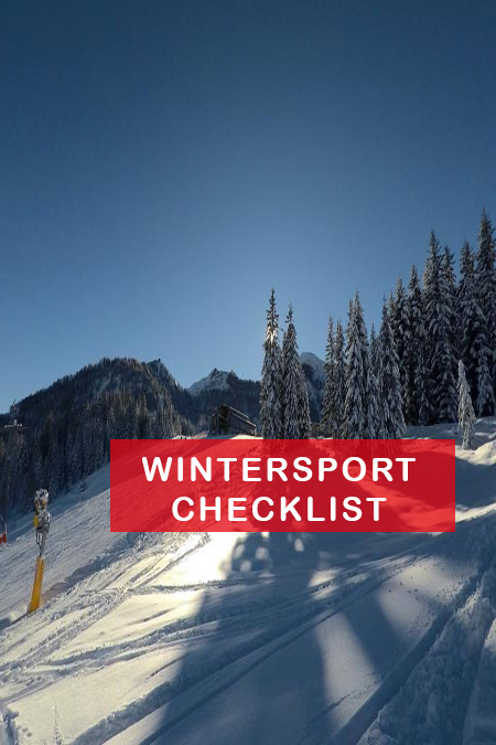 WINTERSPORT CHECKLIST