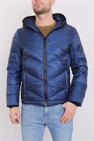 WOOLRICH CHEVRON HOODED JKT